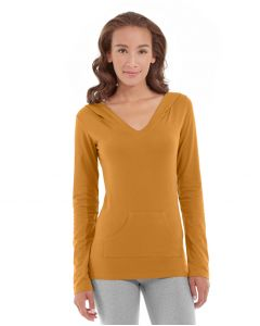 Eos V-Neck Hoodie-L-Orange